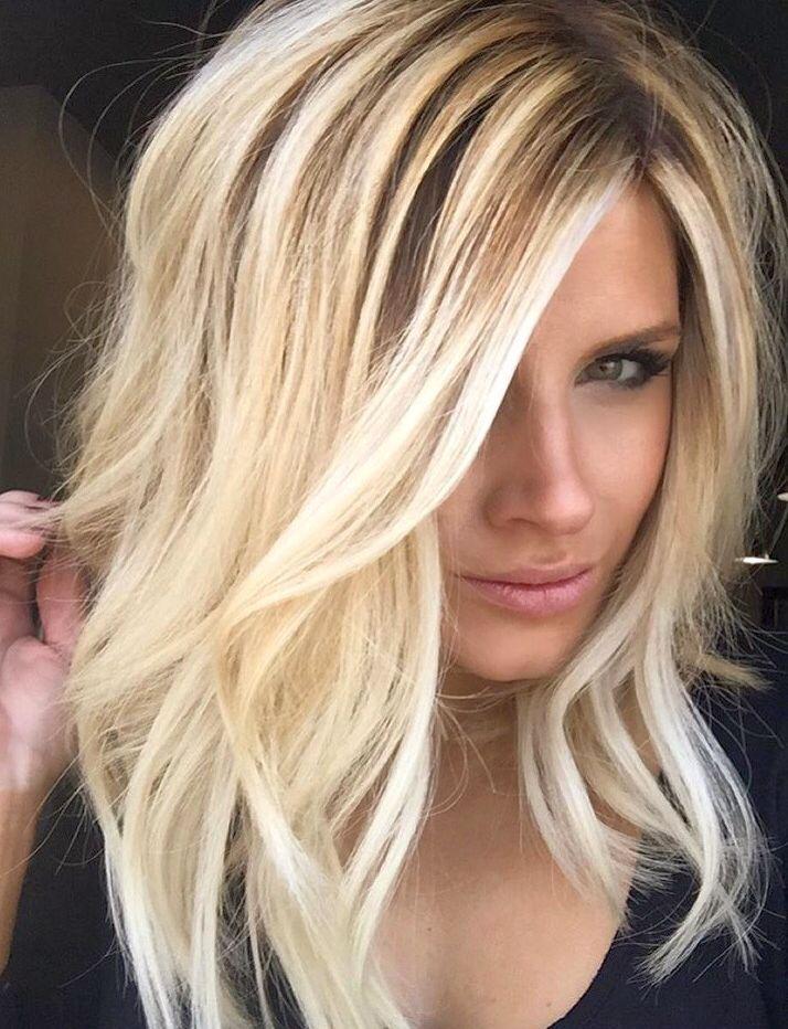 Светлый цвет волос с мелированием фото