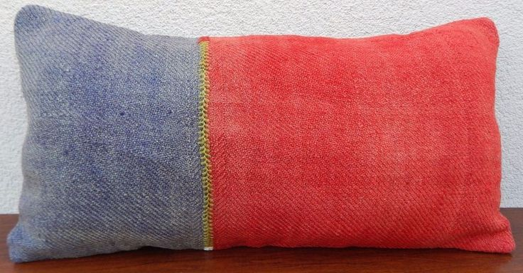 12 x24'' Vintage Woven Lumbar Kilim Pillow Cover, Long Kelim Throw Cushion #Handmade