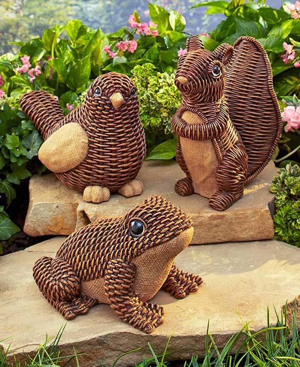Wicker-Look Garden Statues | The Lakeside Collection