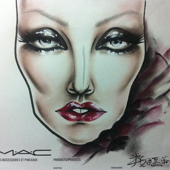 #makeup #facechart  #artist #beauty #mac #cosmetics