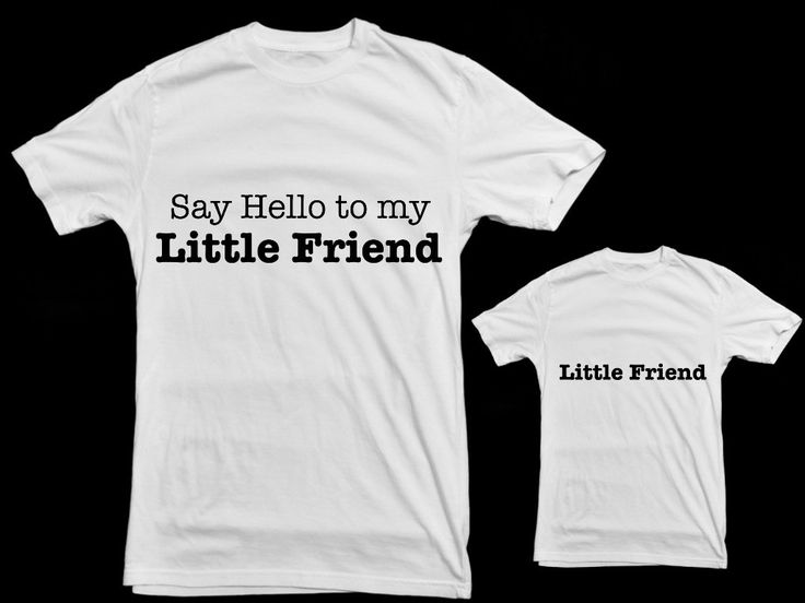 Matching Father and Kid tshirt set. Say Hello to by LittleandLarge, $49.50