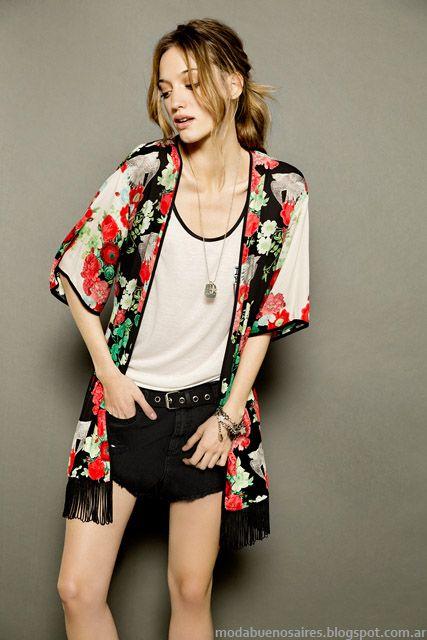 Kimonos Tucci 2015 moda verano 2015.