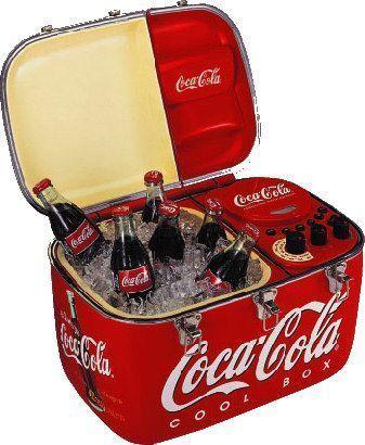 Coca-Cola Radio cooler…