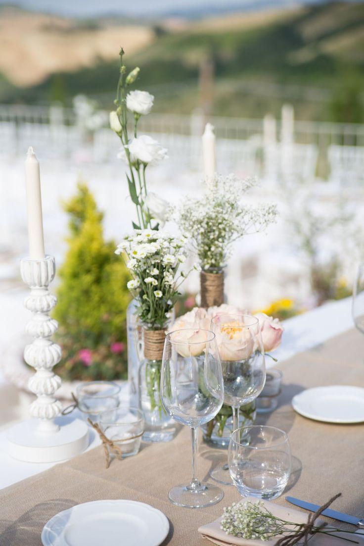 Matrimonio Rustico Centrotavola : Oltre fantastiche idee su centrotavola con margherite