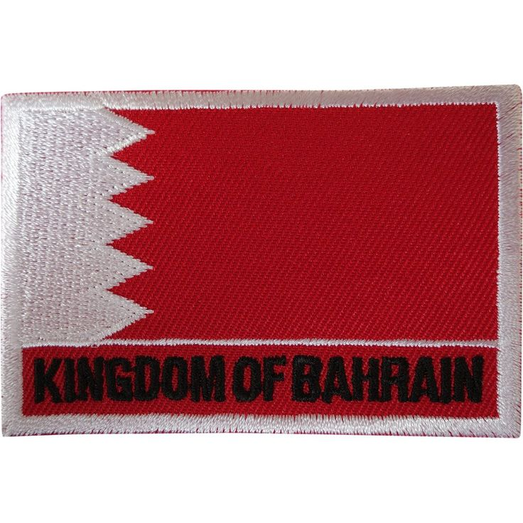 Kingdom of Bahrain Flag Patch Iron Sew On Embroidered Badge Embroidery Applique