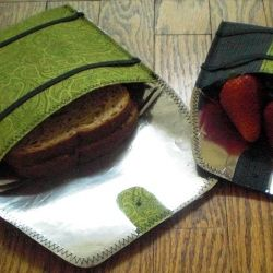 Make your own reusable snack/sandwich bags using repurposed mylar.  FREE Tutorial includes template, instructions, photos and tips!