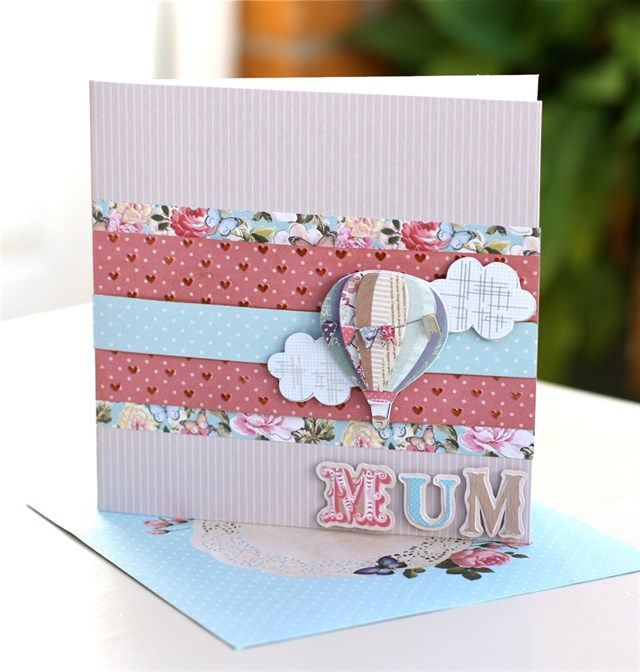 Handmade Mother's Day Card tutorial.