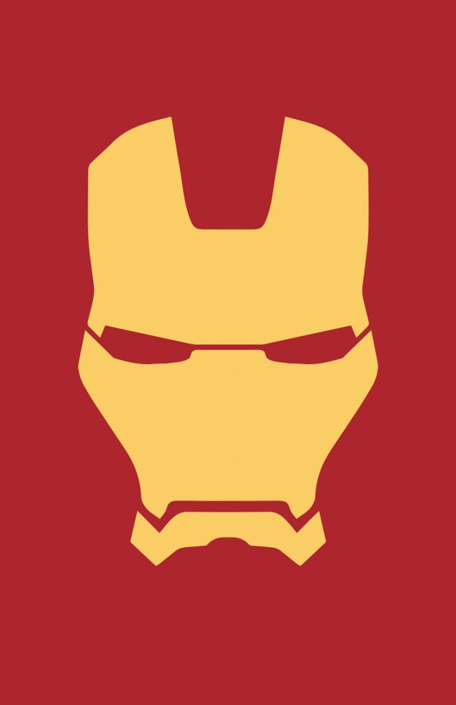 Iron Man minimalist helmet design by Minimalist Heroes ...