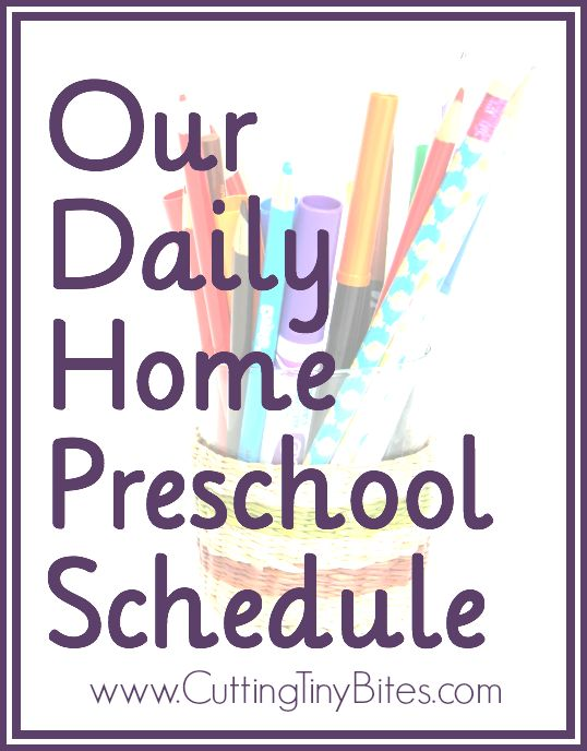 Daily Home Preschool Schedule with a 4-year-old and a 2-year old.  More of a rhythm or routine than a schedule.