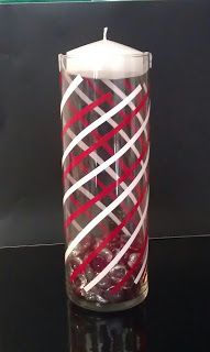 Miss artsy craftsy candy cane floating candle candles for Candy cane holder candle centerpiece