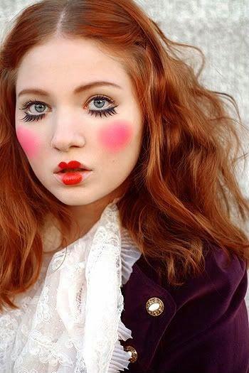 Halloween dolly make up, maquillaje de muñequita para Halloween, cute costume, Piensa en Chic www.PiensaenChic.com