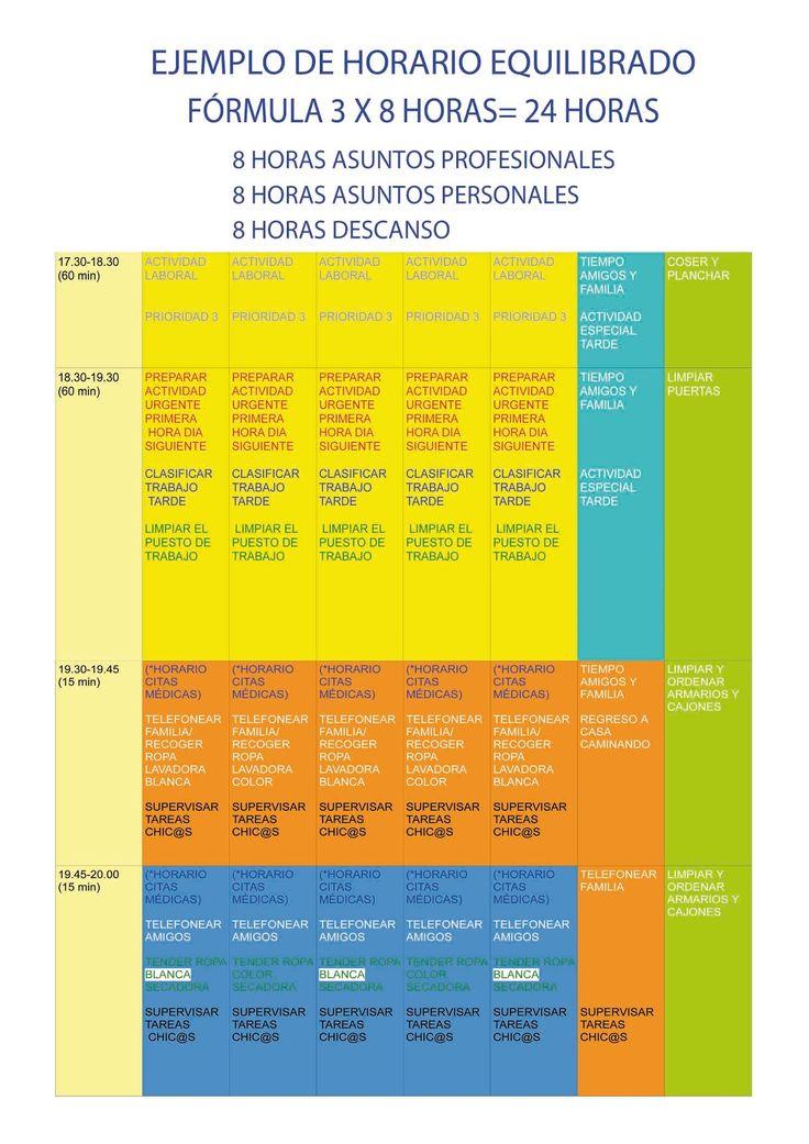 PLAN DE VIDA: MODELO DE HORARIO PERSONAL Y PROFESIONAL-LIFE PLAN. PERSONAL AND BUSINESS SCHEDULE