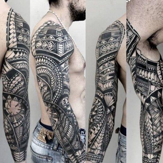 Polinésio, samoano, maori, tatuagem tribal