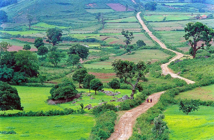 The beautiful Araku Valley near Vizag located in Eastern Ghats