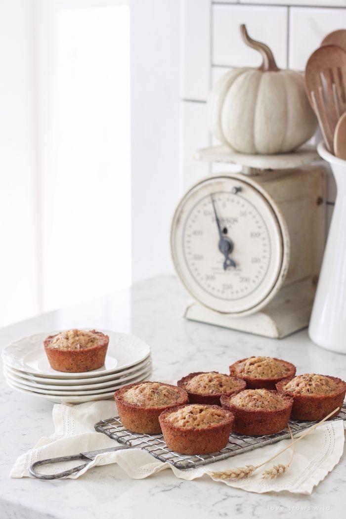 Delicious Pecan Pie Muffin recipe perfect for fall!
