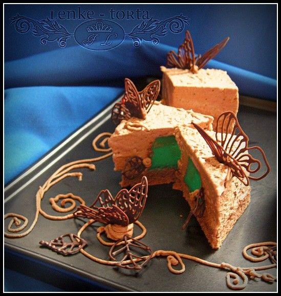 Csokis desszert zila formában