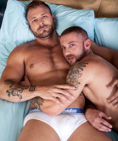 Gay men making love