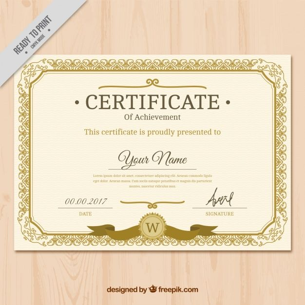 15 best Certificates images on Pinterest Certificate design - certificate of completion template free download