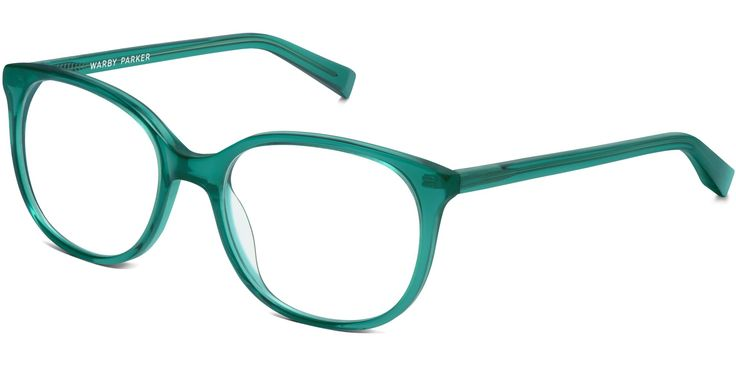 Angle of Laurel in Peacock Green // warbyparker