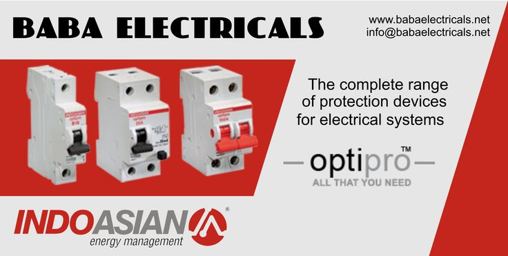 Optipro's flexible range includes best quality products that are priced just right. The extensive range includes MCBs, Isolators, RCCBs and Accessories. They are designed to provide complete protection against short-circuits, overloads and residual current faults, thus making Optipro safe and reliable choice. http://goo.gl/Hkt2h4 #MCBs #RCCB #CircuitBreaker