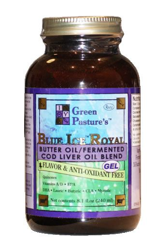 'A Real Food Lover' Blog: How I Remineralized my Tooth Cavities Without Dentistry -- picture: Green Pasture's Blue Royal Ice Butter Oil/ Cod Liver Oil