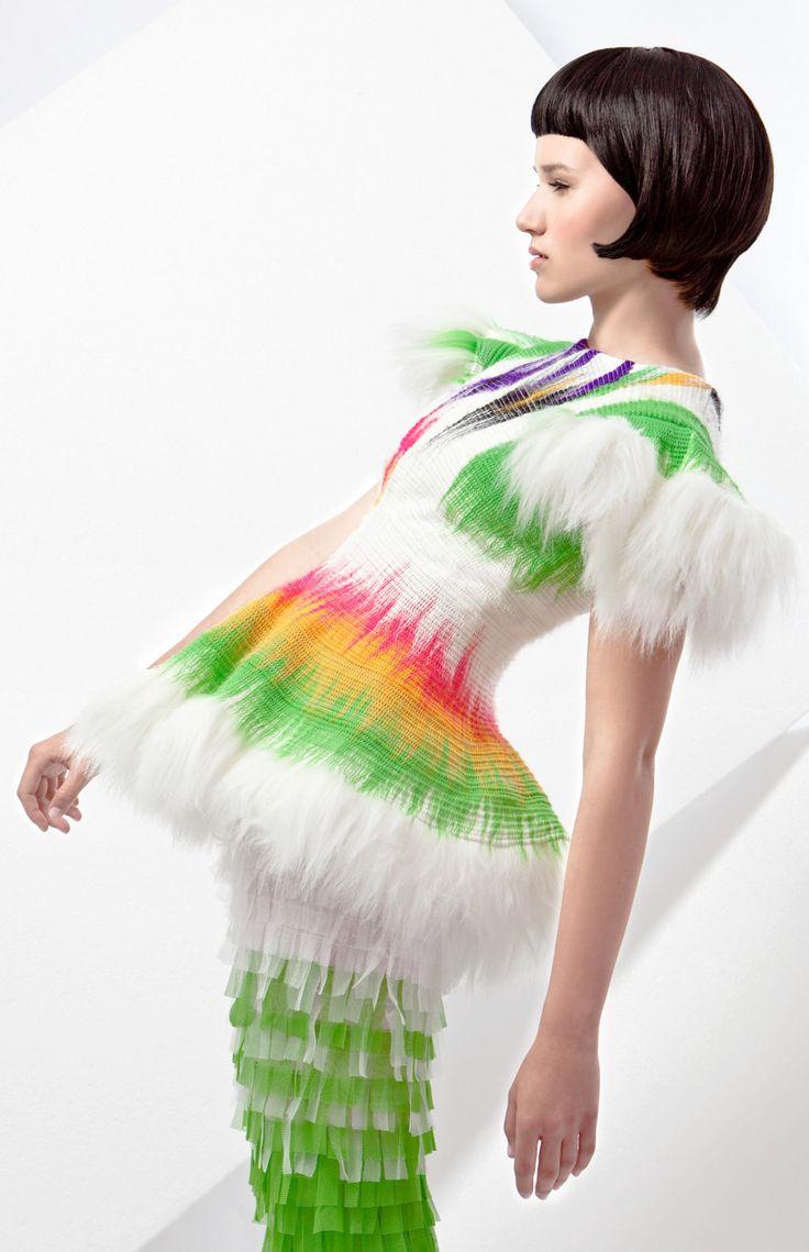 Ooak haute couture outstanding fake FUR short by NATIPUREIDEA