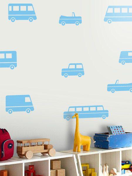 Toy Car Pattern Decals Car Nursery Decals Little Car by LivingWall