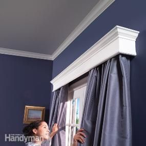 Want to give a dreary room a dramatic facelift? Adding window or door cornices will bring freshness and style to any room décor. They'll hide ugly drapery rods and add a touch of custom-made detailing that makes an ordinary window or patio door look like something special. The top of the cornice can even serve as a display shelf for art or collectibles. Cornices are surprisingly easy to build, even the elegant ones you see in home magazines. Using off-the-shelf trim from the home center and…