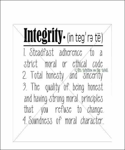 integrity soundness of moral character Building with integrity by mike ford forerunner roget's thesaurus defines integrity as honesty, uprightness, moral soundness, principle, character, decency.