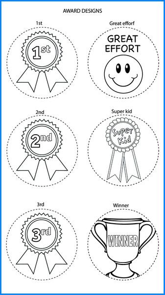 Awards Mixed Designs - Colour In Yourself Badges