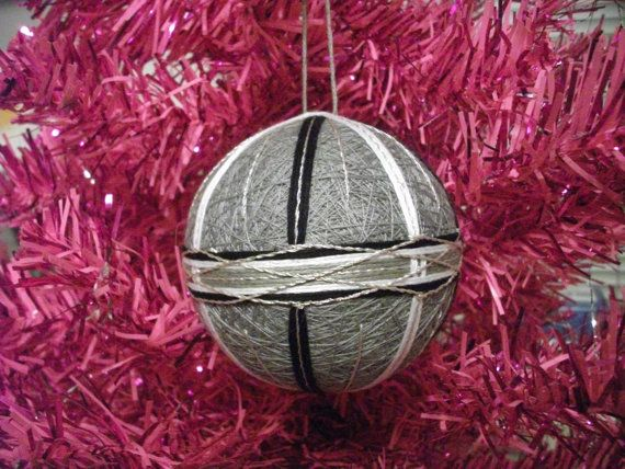 Grey Black White Temari Ball Ornament Supersale30 by Flitter715, $12.00