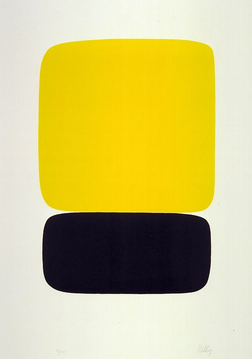 Ellsworth Kelly: lemon and navy.