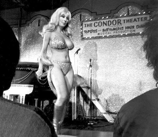 Legendary San Francisco stripper Carol Doda, whose splashy act helped introduce topless entertainment to the city more than 50 years ago, died at age 78.