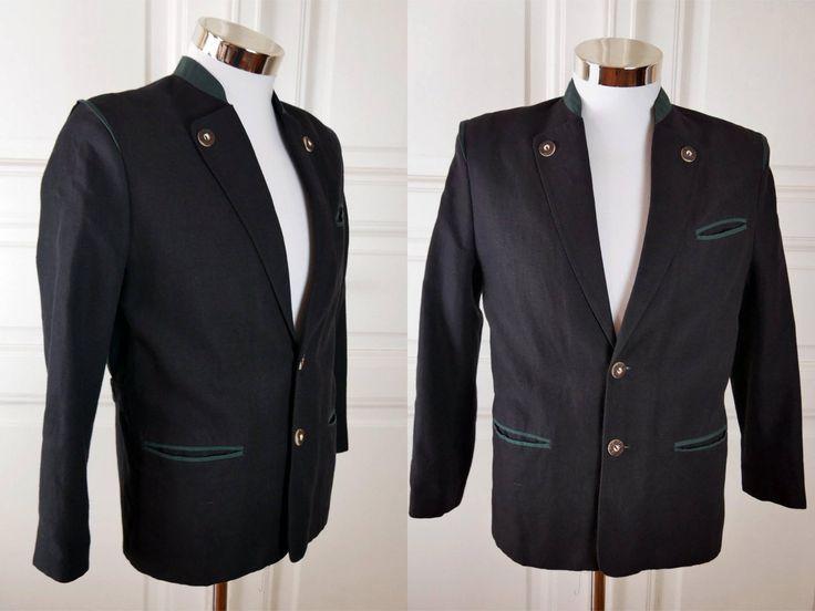 Austrian Vintage Trachten Jacket, Black Forest Green Linen-Blend Traditional Tyrol Octoberfest Jacket: German Teen' Size 164, 36S US/UK by YouLookAmazing on Etsy
