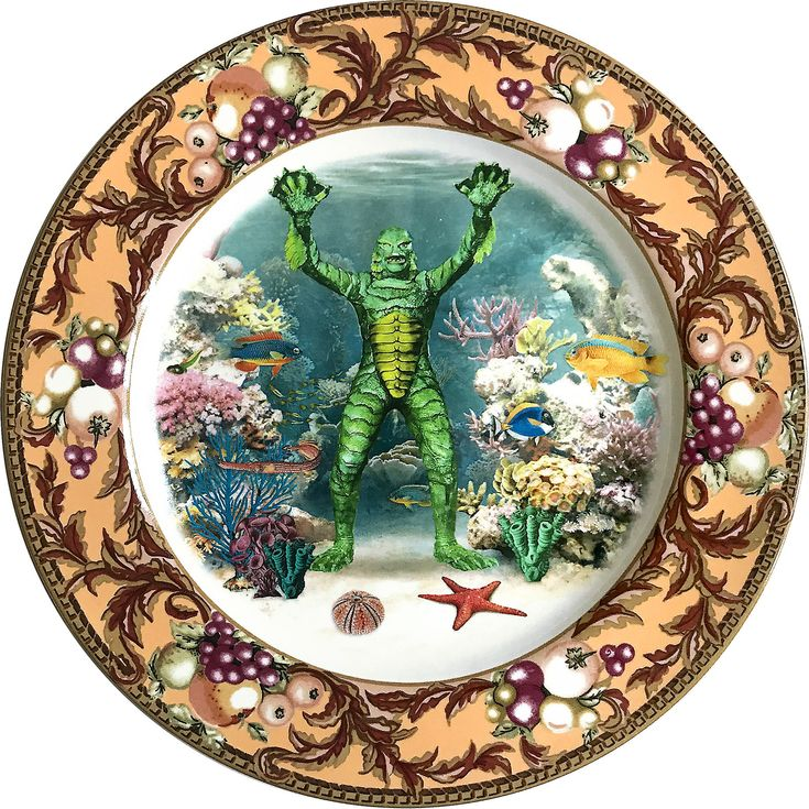 Creature - Underwater - Fiance Plate - #0592 by ArtefactoStore on Etsy