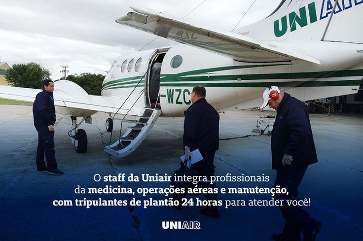 O transporte aeromédico da Uniair atua em diferentes situações clínicas, sempre primando pelo cuidado e excelência no atendimento ao paciente, quando precisar fale com a gente: 0800 519 519.