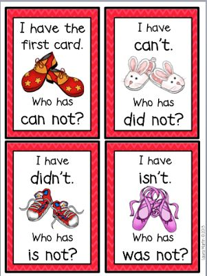 I Have, Who Has-Two Contraction Games