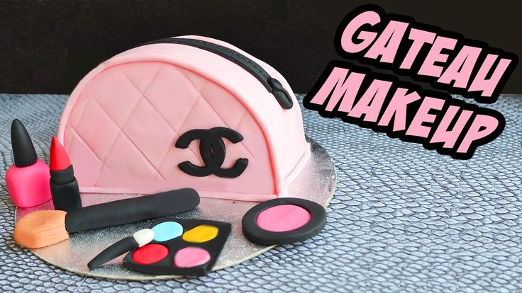 Cake design - Sac channel Maquillage - chanel bag Makeup Cake
