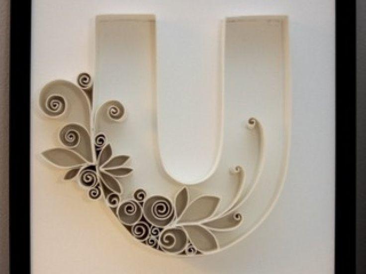 Cómo hacer letras decorativas. | Aprender manualidades es facilisimo.com