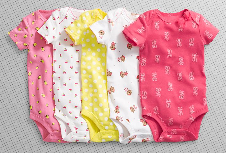 Oh-so cute baby clothes will keep her cute as a button with every change.