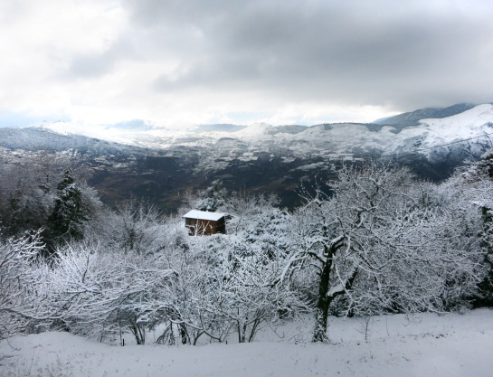 heart of winter at Greece. Corinth area