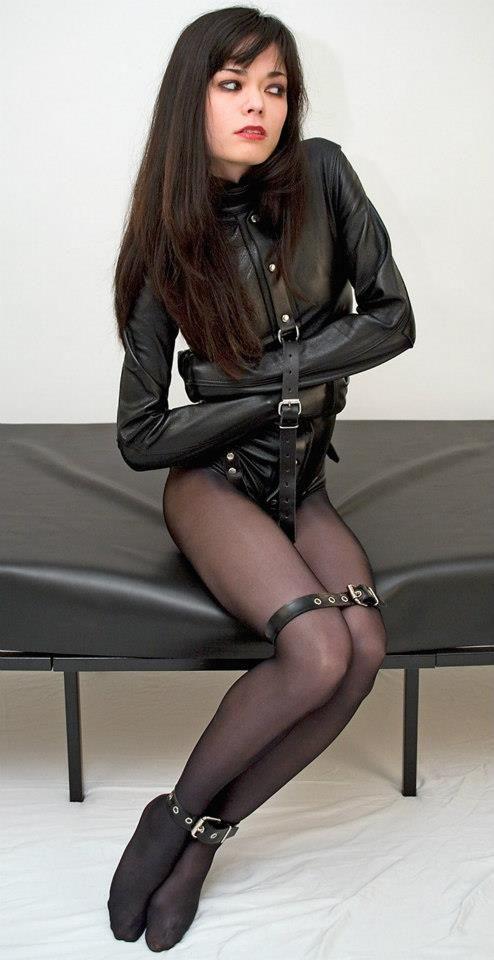 Leather Straitjacket Bondage 65