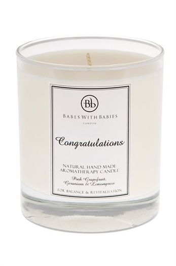 Personalised aromatherapy candle (new baby gift) by Bb UK