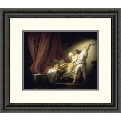 "Global Gallery 'Lock Le Verrou' by Jean Honore Fragonard Framed Painting Print Size: 22.53"" H x 26"" W x 1.5"" D"