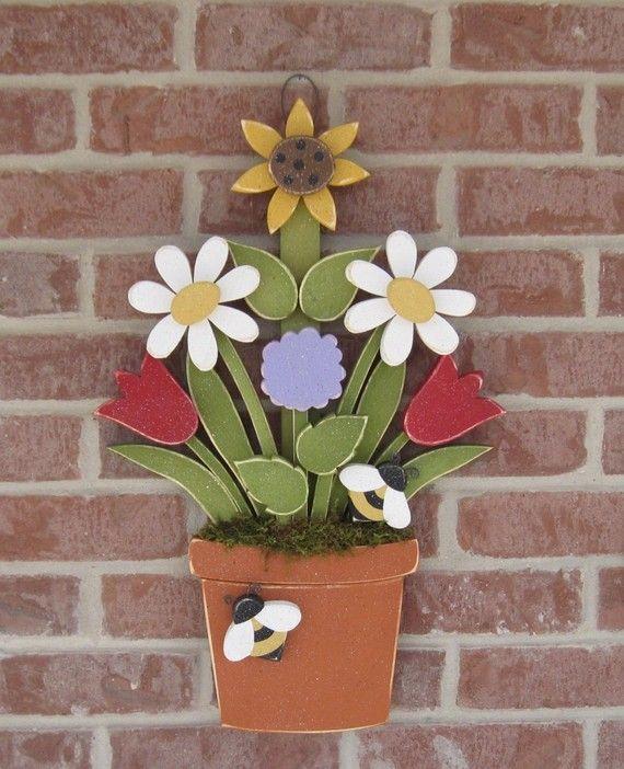 Wooden flower pot!