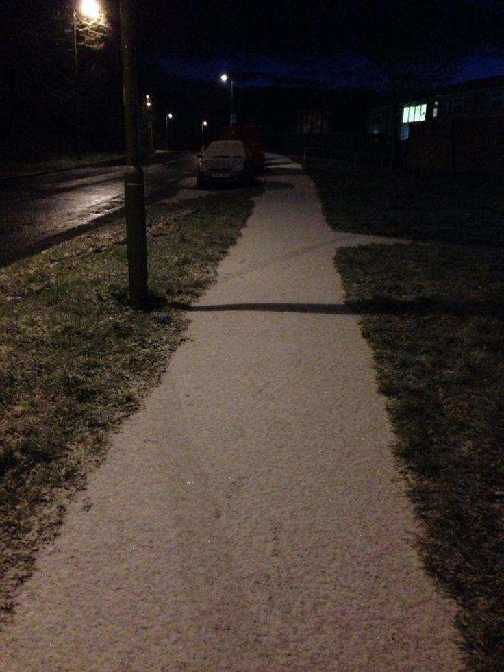 Light snow in Havant