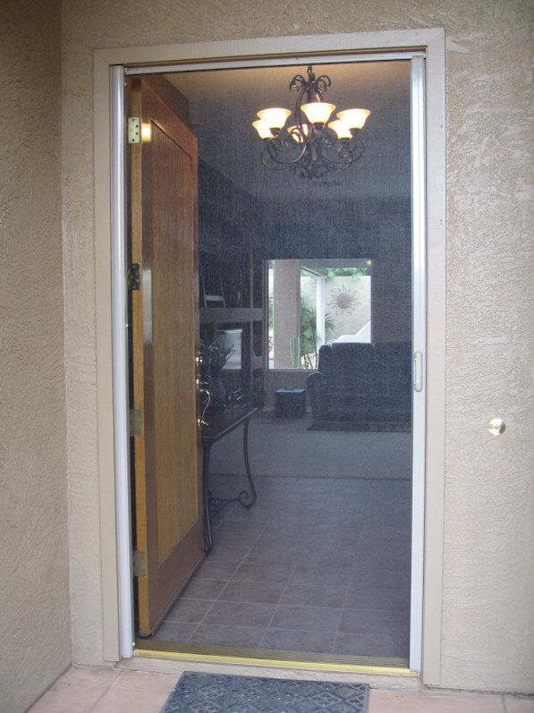 Clearview retractable screen door aaa sun control for Retractable screen door replacement