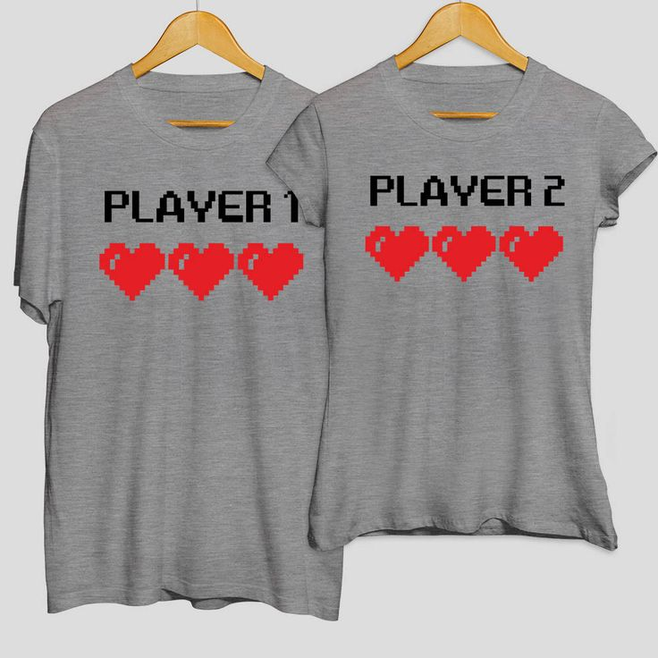 Player No. 1 & Player No. 2 matching t-shirts, t-shirt set, pärchen t-shirts,  couple shirts, matching couple shirts, girlfriend gift, funny