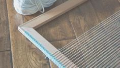 Create Your Own Frame Loom: No tools necessary!!,  Warping frame and peg looms