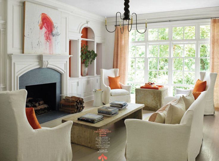 Twelve Chairs Boston: Magazine Monday U003e Great Example Of Interjecting One  Bright Color By Using. Designer Living RoomsHouse BeautifulBeautiful ...
